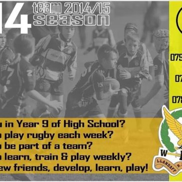 Under 14s Recruitment!