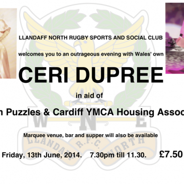 Ceri Dupree in aid of Autism Puzzles and YMCA HA