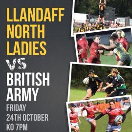 **Venue update**Llandaff North Ladies vs British Army